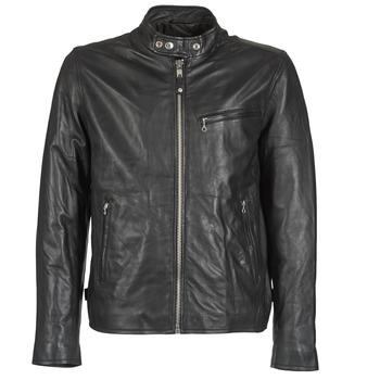Oblačila Moški Usnjene jakne & Sintetične jakne Schott BLODOU Črna