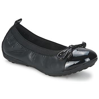 Čevlji  Deklice Balerinke Geox PIUMA BALLERINE Črna