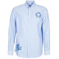 Oblačila Moški Srajce z dolgimi rokavi Serge Blanco ANTONIO Modra