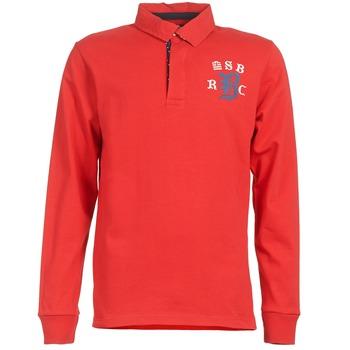 Oblačila Moški Polo majice dolgi rokavi Serge Blanco MATO Rdeča