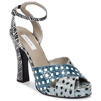 Čevlji  Ženske Sandali & Odprti čevlji Marc Jacobs Elap Modra / Bela