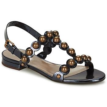 Čevlji  Ženske Sandali & Odprti čevlji Marc Jacobs Vegetal Črna