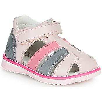 Čevlji  Deklice Sandali & Odprti čevlji Citrouille et Compagnie FRINOUI Rožnata / Modra / Svetla / Fuksija