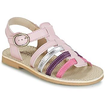 Čevlji  Deklice Sandali & Odprti čevlji Citrouille et Compagnie RAINA Rožnata / Vijolična