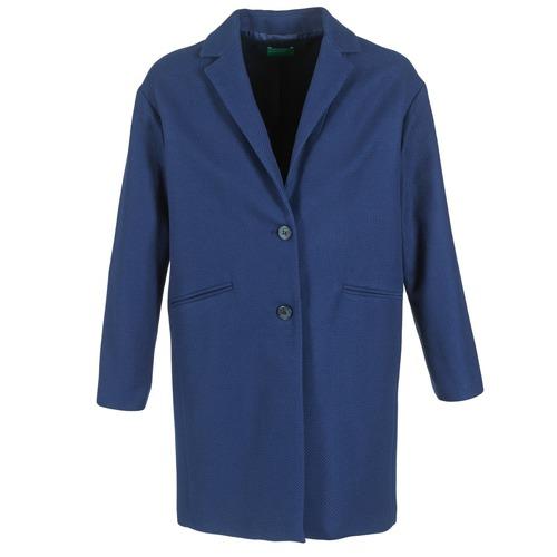 Oblačila Ženske Plašči Benetton AGRETE Modra