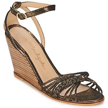 Čevlji  Ženske Sandali & Odprti čevlji Petite Mendigote COLOMBE Črna / Pozlačena
