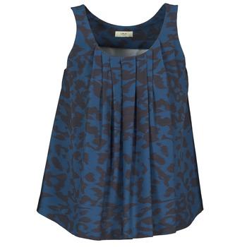 Oblačila Ženske Majice brez rokavov Lola CUBA Modra / Črna