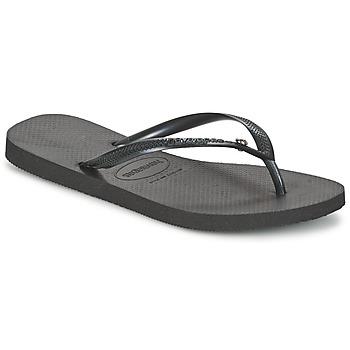 Čevlji  Ženske Japonke Havaianas SLIM CRYSTAL GLAMOUR SWAROVSKI Črna