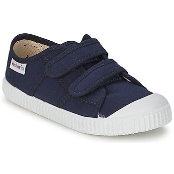 Čevlji  Otroci Nizke superge Victoria BLUCHER LONA DOS VELCROS Modra