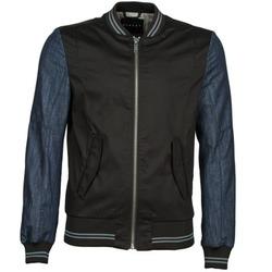 Oblačila Moški Jakne Sisley 2ID2533A9 Črna / Modra