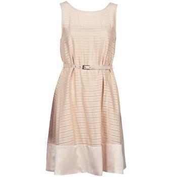 Oblačila Ženske Kratke obleke Manoukian 613374 Bež
