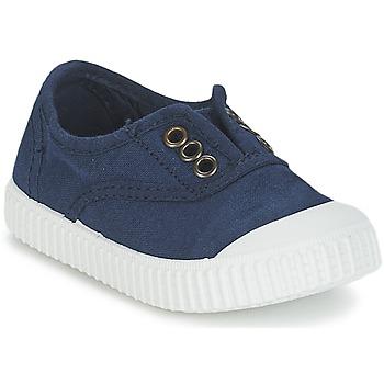 Čevlji  Otroci Nizke superge Victoria INGLESA LONA TINTADA Modra