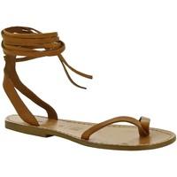 Čevlji  Ženske Sandali & Odprti čevlji Gianluca - L'artigiano Del Cuoio 534 D CUOIO CUOIO Cuoio