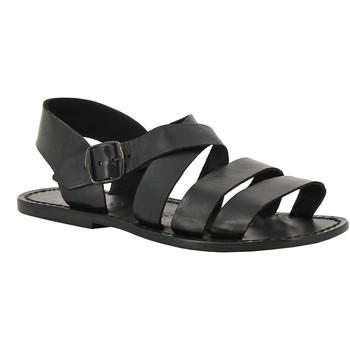 Čevlji  Ženske Sandali & Odprti čevlji Gianluca - L'artigiano Del Cuoio 508 U NERO CUOIO nero