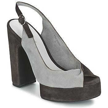 Čevlji  Ženske Sandali & Odprti čevlji Jeffrey Campbell LARUE Siva / Kostanjeva