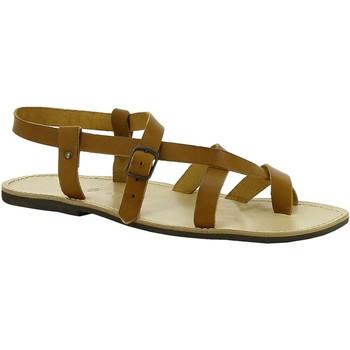 Čevlji  Ženske Sandali & Odprti čevlji Gianluca - L'artigiano Del Cuoio 530 U CUOIO LGT-GOMMA Cuoio