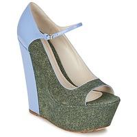 Čevlji  Ženske Salonarji John Galliano S54261 Modra / Zelena