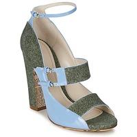 Čevlji  Ženske Sandali & Odprti čevlji John Galliano A54250 Modra / Zelena