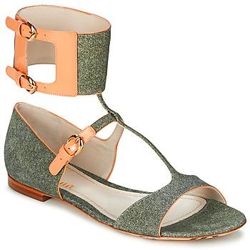 Čevlji  Ženske Sandali & Odprti čevlji John Galliano A65970 Zelena / Bež