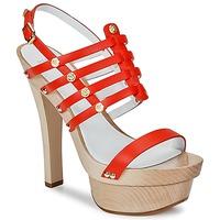 Čevlji  Ženske Sandali & Odprti čevlji Versace DSL943T Rdeča