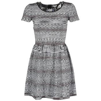 Oblačila Ženske Kratke obleke Manoush BIJOU ROBE Črna / Siva