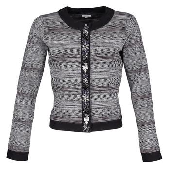 Oblačila Ženske Jakne & Blazerji Manoush BIJOU VESTE Črna / Siva