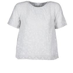 Oblačila Ženske Majice s kratkimi rokavi Manoush COTONNADE SMOCKEE Bela