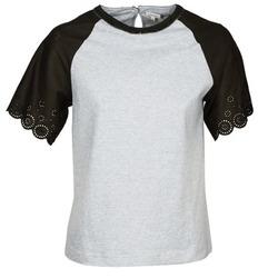 Oblačila Ženske Majice s kratkimi rokavi Manoush FANCY Siva / Črna
