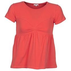 Oblačila Ženske Majice s kratkimi rokavi Manoush MOLLETON Koralna