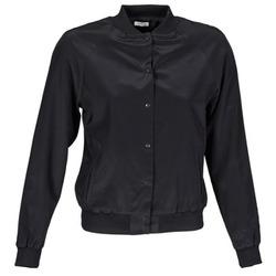 Oblačila Ženske Jakne & Blazerji Manoush TEDDY FLEUR SIATIQUE Črna