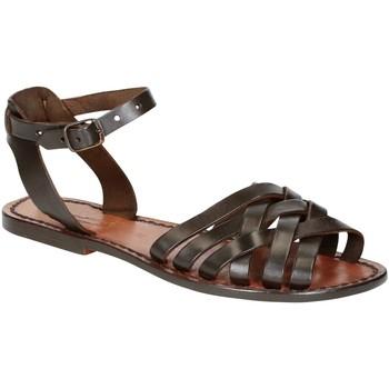 Čevlji  Ženske Sandali & Odprti čevlji Gianluca - L'artigiano Del Cuoio 595 D MORO CUOIO Testa di Moro
