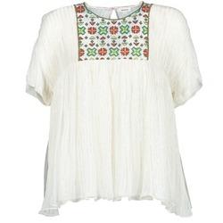 Oblačila Ženske Topi & Bluze Manoush POINT DE CROIX Kremno bela