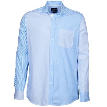 Oblačila Moški Srajce z dolgimi rokavi Hackett GORDON Modra