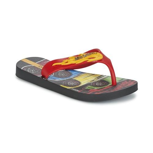 Čevlji  Dečki Japonke Ipanema HOT WHEELS TYRE Rdeča / Črna