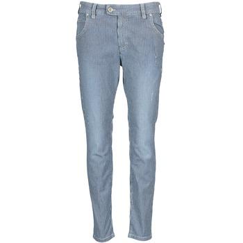 Oblačila Ženske Jeans straight Marc O'Polo LAUREL Modra / Bela