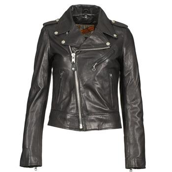 Oblačila Ženske Usnjene jakne & Sintetične jakne Schott SIMOUDE Črna