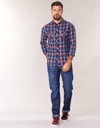 Oblačila Moški Jeans straight G-Star Raw 3301 STRAIGHT Hydrite / Džínová modř / Tmavá / Sepraná