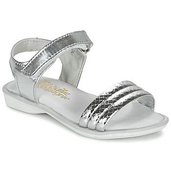 Čevlji  Deklice Sandali & Odprti čevlji Citrouille et Compagnie GOSAGOLA Srebrna