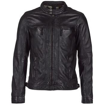 Oblačila Moški Usnjene jakne & Sintetične jakne Oakwood CASEY Črna