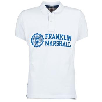 Oblačila Moški Polo majice kratki rokavi Franklin & Marshall AYLEN Bela