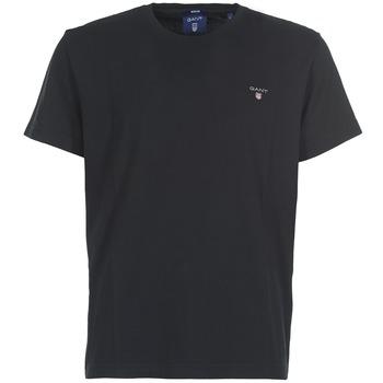 Oblačila Moški Majice s kratkimi rokavi Gant THE ORIGINAL T-SHIRT Črna
