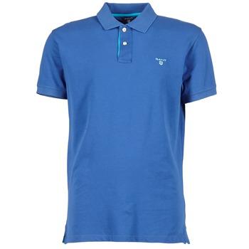 Oblačila Moški Polo majice kratki rokavi Gant CONTRAST COLLAR PIQUE Niebieski