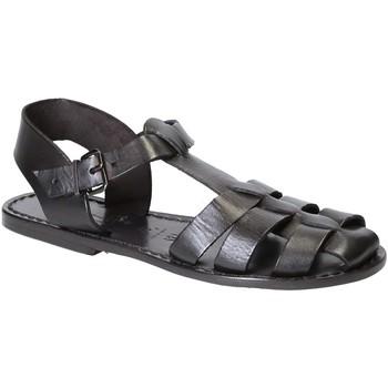 Čevlji  Ženske Sandali & Odprti čevlji Gianluca - L'artigiano Del Cuoio 501 D NERO CUOIO nero