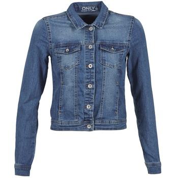 Oblačila Ženske Jeans jakne Only WESTA Niebieski