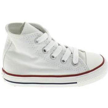 Čevlji  Otroci Nogavice za dojenčke Converse All Star Hi BB Blanc Bela