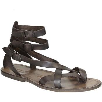 Čevlji  Ženske Sandali & Odprti čevlji Gianluca - L'artigiano Del Cuoio 564 U FANGO CUOIO Fango