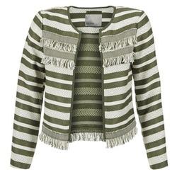 Oblačila Ženske Jakne & Blazerji Vero Moda FRILL Kaki / Kremno bela