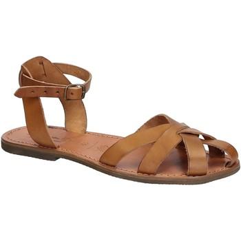 Čevlji  Ženske Sandali & Odprti čevlji Gianluca - L'artigiano Del Cuoio 503 D CUOIO GOMMA Cuoio