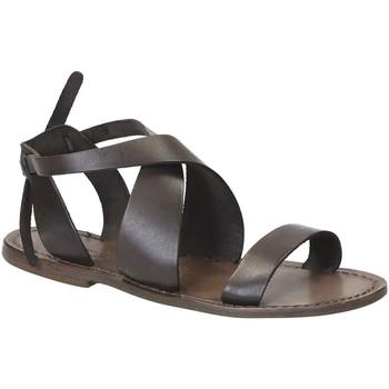 Čevlji  Ženske Sandali & Odprti čevlji Gianluca - L'artigiano Del Cuoio 570 D FANGO CUOIO Fango