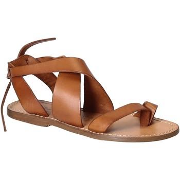Čevlji  Ženske Sandali & Odprti čevlji Gianluca - L'artigiano Del Cuoio 571 D CUOIO CUOIO Cuoio
